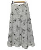 IENA(イエナ)の古着「ストライプフラワースカート」|ブラウン