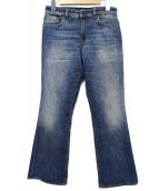 6397(シックススリーナインセブン)の古着「BLUE CROPPED FLARE DENIM」|ブルー