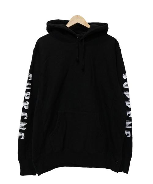 Supreme(シュプリーム)Supreme (シュプリーム) GRADIENT SLEEVE HOODED SWEATSH ブラック サイズ:Lの古着・服飾アイテム