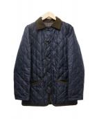 MACKINTOSH PHILOSOPHY(マッキントッシュフィロソフィー)の古着「高密度ポリエステルタフタキルティングジャケット」|ブラック