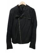RICK OWENS(リックオウエンス)の古着「ライダースジャケット」|ブラック