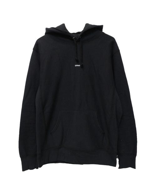 Supreme(シュプリーム)Supreme (シュプリーム) Micro Logo Hooded Sweatshirt ブラック サイズ:Mの古着・服飾アイテム