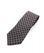 GUCCI(グッチ)の古着「ネクタイ」 ブラック×ピンク