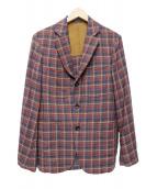 TOMORROW LAND(トゥモローランド)の古着「段返り3Bジャケット」|ブラウン