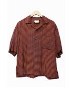 MAISON SPECIAL(メゾンスペシャル)の古着「ショートスリーブチェックシャツ」|パープル×ブラウン