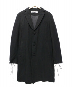 ROBERT GELLER(ロバートゲラー)の古着「LACED CUFF OVER COAT」|ブラック