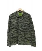 X-LARGE(エクストララージ)の古着「カモ柄ミリタリージャケット」|グリーン