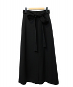 CURRENTAGE(カレンテージ)の古着「ベルテッドスカート」|ブラック