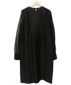 martinique(マルティニーク)の古着「ブラウスワンピース」|ブラック