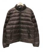 Serge Blanco(セルジュブランコ)の古着「スタンドカラーキルティング中綿ブルゾン」|ブラウン