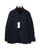 INTERMEZZO(インターメッツォ)の古着「ナイロンジップジャケット」 ネイビー