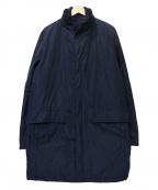 Serge Blanco(セルジュブランコ)の古着「スタンドカラー中綿コート」|ネイビー
