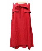 ADORE(アドーア)の古着「ピュアリネンスカート」|レッド