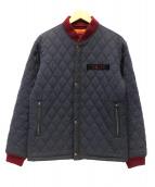 CALEE(キャリ)の古着「キルティングジャケット」|レッド×ブラック