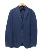 L.B.M.1911(エルビーエム1911)の古着「USED加工コットンリネン「2Bジャケット」 ネイビー