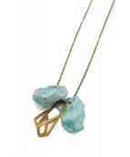 REGINA DABDAB(レジーナダブダブ)の古着「ストーンネックレス」|ゴールド×ブルー