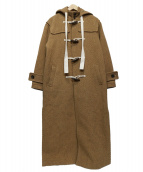 ETRE TOKYO(エトレトウキョウ)の古着「ヘリンボーンロングダッフルコート」|ブラウン
