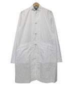 BLACK COMME des GARCONS(ブラックコムデギャルソン)の古着「コットンチャイナジャケット」|ホワイト