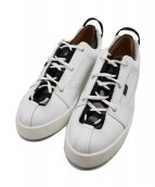 doublet(ダブレット)の古着「SNEAKER LAYERED DRESS SHOES」 ブラック×ホワイト