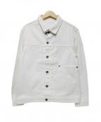Serge Blanco(セルジュブランコ)の古着「デニムジャケット」|ホワイト