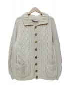 INVERALLAN(インバーアラン)の古着「カウチンニットカーディガン」|ホワイト