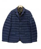 Serge Blanco(セルジュブランコ)の古着「中綿レイヤードジャケット」|カーキ×ネイビー