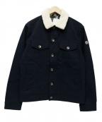 Serge Blanco(セルジュブランコ)の古着「襟ボアジャケット」|ネイビー