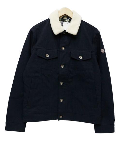 Serge Blanco(セルジュブランコ)Serge Blanco (セルジュブランコ) 襟ボアジャケット ネイビー サイズ:M 未使用品の古着・服飾アイテム