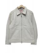 McGREGOR(マクレガー)の古着「ラムレザードリズラージャケット」|ホワイト