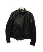 Rags McGREGOR(ラグスマックレガー)の古着「ダブルレザージャケット」|ブラック