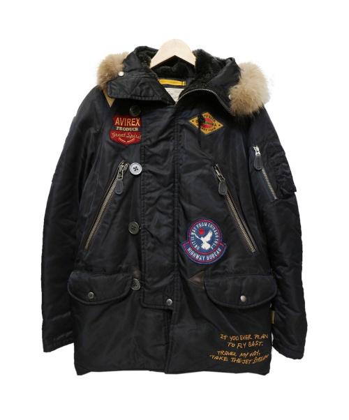 AVIREX(アビレックス)AVIREX (アビレックス) N-3Bタイプコート ブラック サイズ:Mの古着・服飾アイテム