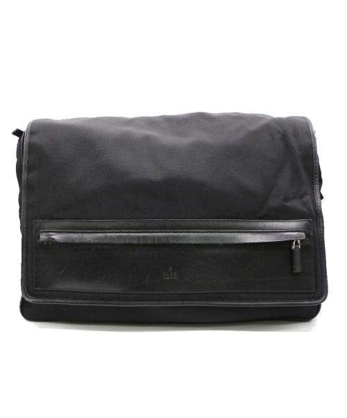 GUCCI(グッチ)GUCCI (グッチ) Messenger Canvas Black Leather ブラック 019.0376 001553の古着・服飾アイテム
