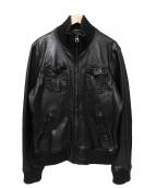 SCOTCH & SODA(スコッチアンドソーダ)の古着「レザージャケット」|ブラック