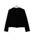 ANAYI(アナイ)の古着「ノーカラージャケット」|ブラック