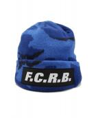 F.C.R.B.(エフシーアールビ)の古着「ロゴニット帽」|ブルー