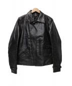 Rags McGREGOR(ラグスマックレガー)の古着「加工レザージャケット」|ブラック