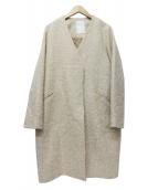 Noble(ノーブル)の古着「アルパカ混 ループヘリンボーンコート」|ベージュ
