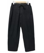 08sircus(08サーカス)の古着「タックイージーパンツ」 ブラック