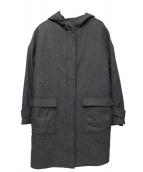 INDIVI(インディヴィ)の古着「フーデッドコート」 グレー