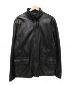 BANANA REPUBLIC(バナナリパブリック)の古着「ラムレザージャケット」 ブラック