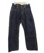 TROPHY CLOTHING(トロフィークロージング)の古着「シンチバックデニムパンツ」|インディゴ