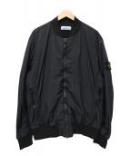 STONE ISLAND(ストーンアイランド)の古着「ロゴボンバージャケット」 ブラック