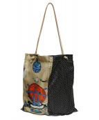 manipuri(マニプリ)の古着「ナイロントートバッグ」 ベージュ