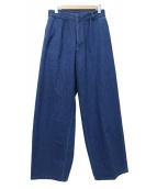 Rags McGREGOR(ラグスマックレガー)の古着「ワイドパンツ」|ブルー