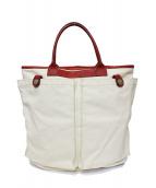 Felisi(フェリージ)の古着「キャンバストートバッグ」|ホワイト×レッド