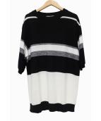 cullni(クルニ)の古着「半袖ニット」|ブラック×ホワイト