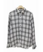 BURBERRY BLACK LABEL(バーバリーブラックレーベル)の古着「チェックシャツ」|ホワイト