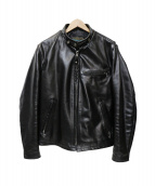 SCHOTT BROS.(ショットブロス)の古着「ホースレザージャケット」|ブラック