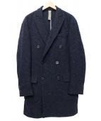 eleventy(イレブンティ)の古着「メランジウールコート」 ネイビー