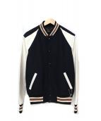 COACH(コーチ)の古着「Varsity Jacket」|ネイビー×ホワイト